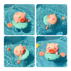 Children's wind-up amphibious play water whale lion bathing water spray swimming clockwork toy