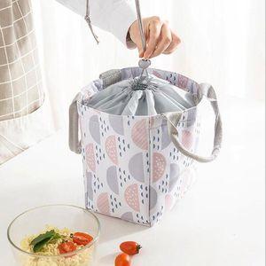 2020 Новый портативный мешок для обеда Теплоизолированная ланч коробка Tote Cooler Bag Bento Bento Concher Conseher Storage Bags1