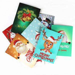 Christmas Gifts 5D DIY Diamond Painting Greeting Card Ornaments Christmas Decor New Year 2020 Gift Card Navidad Noel Decor Natal