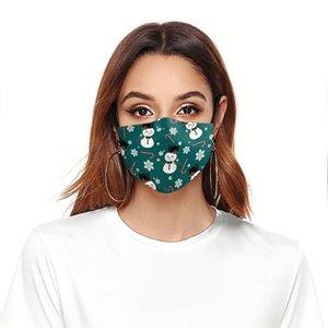 Masque Visage de Noël 3D Impression numérique Protection anti-poussière anti-poussière et anti-haze Adulte 2 filtres Drôle Jour Happy Day Man Ewc1689