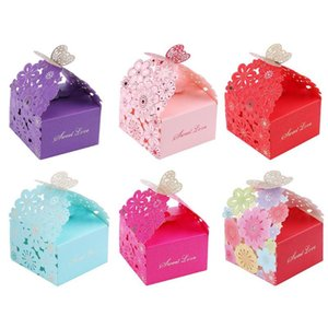 10pcs Set Creative Hollow Laser Flower Candy Box Wedding Gift Wrapping Case