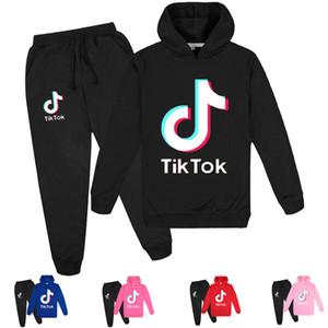 Nuovi bambini tuta dei ragazzi vestiti casuali 2 Pezzi Set Pantaloni Costume Stampa Tik Tok Sport vestito per Teen Girl a maniche lunghe Felpa con cappuccio Pant