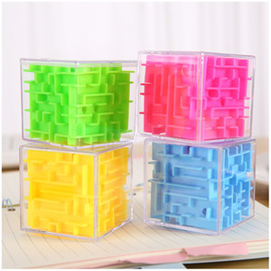 Kid 3D Maze Magic Cube Transparent Six-sided Puzzle Speed Cube Rolling Ball Game Cubos Maze Toys Children Educational toy Gift