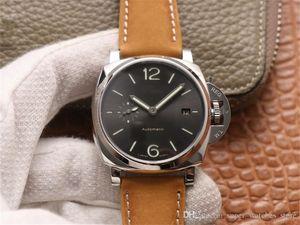 VS 904 Montre de Luxe 남성 시계 42mm 브랜드 시계 P.9000 무브먼트 316L 시계 가죽 시계 밴드