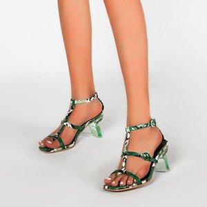 Doratasia 2020 Top Qualität Schlange Große Größe 43 Klare Fersen Elegant Schuhe Frauen Sommer Knöchelband Sandalen Frau1