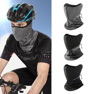Sommer-Schwarz-Caps Laufen Schal Anti-UV-Kopfbedeckung Fahrrad Bandana Sport Fishing Maske Abdeckung magischer Schal Eis Seide