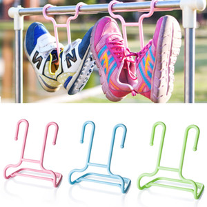 10PCS Set Cabinet Shoe Drying Rack Stand Shelf Children Kids Shoes Storage Wardrobe Organizer Plastic Y1128