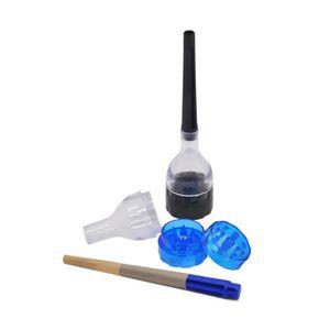 HOT on sale Plastic Funnel Grinder 3 Parts Cone Artist Premium Cone Roller Cigarette Grinder Maker Rolling Filler Cone Roller Maker