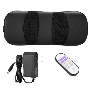 Air Pressure Waist Massage Pillow Cordless Magnetic Therapy Heating Pillow Waist Care US Plug