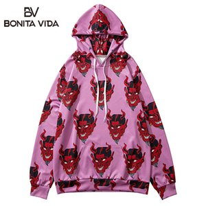 Bonita Vida Teufel Printed Ukiyo E Sweater Hoodies Street Männer Hip Hop Harajuku Japanese Punk Rock Casual Tops
