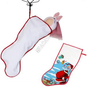 Новогоднее украшение для сублимации Термотрансферных рождественских чулок носков Blank DIY Пользовательских Xm Поставок горячего переводного материал D102906
