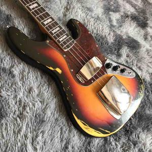Завод Высокое качество твердого тела Rosewood грифе в возрасте 4 струны Джаз Бас-гитара
