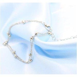 Double Chain Bead Anklets Bracelet For Women Anklets Je sqcrWw beauty888