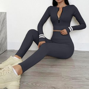 Sportwear Top Designer Pant Sexy Yoga Pant Suit Sport Gymshark Fitness Tracksuit Fashion Two Piece Set Womens Gymwear Leggings Outfit A Orbd