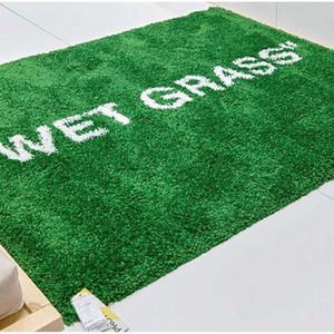 IKACEAxVIOirgil cJo-braRGnded WET green MARKERAD Markrad GRASS carpet rug floor door mats straw mat
