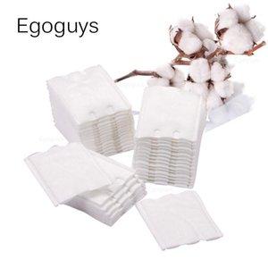 50 pcs cama de algodão de algodão de dupla face wipes polonês removedor guardanapos de limpeza de penas de pilasha absorvem a colagem soak Papel pad Qylkaf