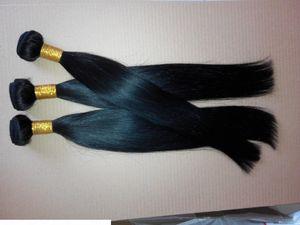 Straight Brazilian Hair Weave Bundles 1 PC 100g Human Hair Extension Black Color 10 To 28 Inch Non Remy 100% Human Hair Bundles