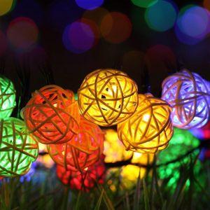 220v 6m 40 Led Warm White Led Ball Light Fairy String Light Holiday Lighting Rattan Ball Led Light Wedding Party Decoration Swy jllhWr