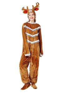 Men Women Christmas Elk Cosplay Mascot Costume Christmas Hot Sale Tracksuit Christmas Costumes Party Cosplay Unisex
