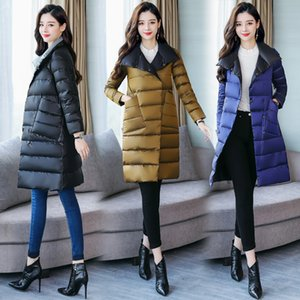 2020 autumn and winter mid-length winter women's stand-up collar double-sided wear women's down jacket women 5XL