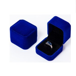 Fashion Square Ring Retail Box Wedding Jewellery Earring Ring Collection Organizer Holder Storage Cases Gift