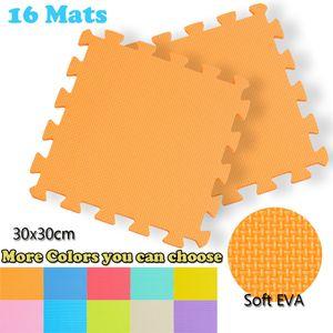 16pc Soft Foam EVA Bloqueo de baldosas Play Mat Kids Gym Gym Yoga Ejercicio Equipo de fitness Pad Mat Perde Peso Ejercicio Mat 63 201202