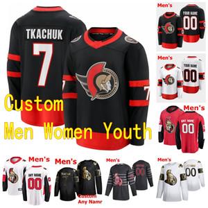 2021 Ottawa Senators Hockey Jerseys Tim Stützle 48 Jake Sanderson 17 Ridly Greig 53 Matthew PECA 20 Logan Shaw 30 Matt Murray Costurado