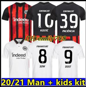 2020 Eintracht Frankfurt Kostic Fussball Jersey 20/21 Frankfurt am Main Kamada Fernandes de Guzman Auswärts Silva 2020 eint Chandler Football Uniform