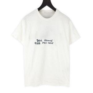 20sS High-End-Buchstabe Logo Gedruckt Unterschrift T-Stück Solid T-Shirt High Street Kurze Ärmel Männer Frauen Reise T-Sommer Atmungsaktive Größe XS-L