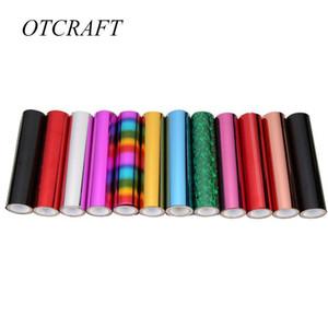 5M Heat activado Foil Glimmer Hojas de transferencia de lámina Hojas de estampado en caliente Multicolor 1 Rollo de papel Holográfico Holográfico Transfefe QYLPQP