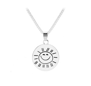 New arrival Hot selling fashion creativity You Are My Sunshine Sun smiley face necklace accessories zj-1663