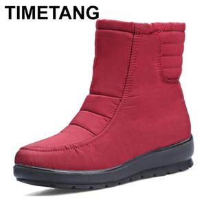 TIMETANGWomens Snow Boots 2020 Scarpe Fashion Casual Cozy Stivali Donne invernali KeepWarm punta rotonda Zipper womenshoes Plus Size