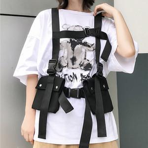 HBP Taktik Yelek 2019 Moda Streetwear Çanta Erkekler Için Hip Hop Göğüs Teçhizatı