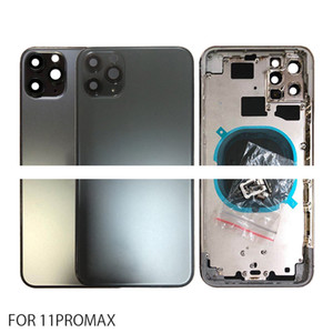 50Pcs Back Housing for iPhone 11 Back Cover Battery Door Rear Cover Chassis Middle Frame with Glass for IPhone 11Pro 11 Pro Max