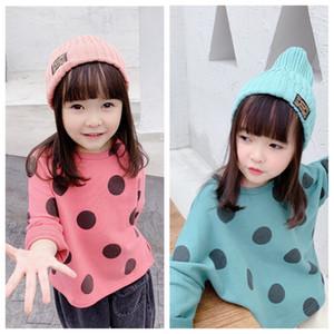 2020 girls shirt blouse children's autumn new product girls' Korean version wave point loose long sleeve sweater goods