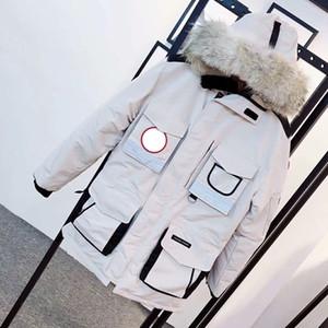 أفضل 9501 معاطف أبيض أسود الملابس ستر حقيقية مصمم YKK رياضة أسفل رجل إمرأة الفيلكرو عرضي حجم XS-XXL