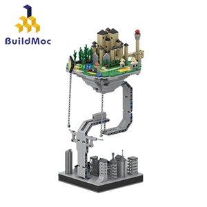 BuildMOC Creator-Schloss gestaltet Hänge Gravity Building Blocks Dynamische Physik Gleichgewicht Roman Bricks Spielzeug für Kinder Kinder LJ200928