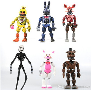 FNAF Fünf Nächte in Freddys 14.5-17cm Albtraum Freddy Chica Bonnie Funtime Foxy PVC Action-Figuren Puppen Modell Spielzeug 6pcs / Lot gif Kinder