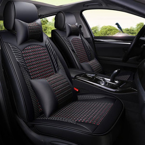 Leather Car Seat Covers Ice silk breathable Seat cushion 5 car styling universal accessories