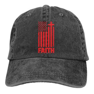 Distressed Red USA Flag Denim Baseball Caps Unisex Camping Distressed Red USA Flag Bill Caps Fashion Active Dome Hats