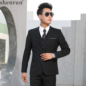 Shenrun Mann-Klagen nimmt Geschäft-formalen beiläufigen klassischen Anzug Hochzeit Bräutigam Partei-Abschlussball Einreiher Farbe Schwarz Grau Marineblau