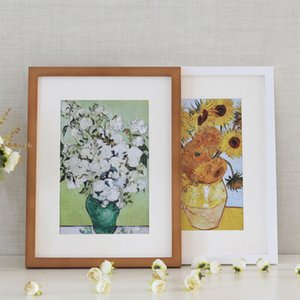New Black White Wood Color Picture Photo Frame 6-12 inch Wooden Frame Nature Solid Simple Wooden Frame Wall Mounting Hardware Included