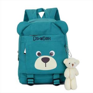 2020 Cute Cartoon Bear Dolls Canvas School Backpack For Children Mini Baby Toddler BookBag For Boys and girls Mochila Rucksacks