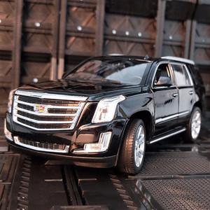 alaşım Welly modeli 01:24 araba Cadillac Escalade Diecasts Araçlar toplayın hediyeler Olmayan uzaktan kumanda tipi taşıma Oyuncak