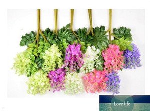75cm Artificial ivy flowers Silk Flower Wisteria Vine flower Rattan for Wedding Centerpieces Decorations Bouquet Garland