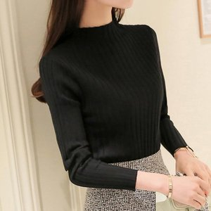 Casual Elasticity Sweaters Women Autumn Winter Turtleneck Sweater Knitted Pullover Jumper