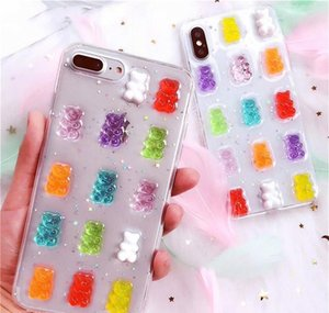 3d Cute Gummy Bear Candy Color Case For Iphone 11 Pro Max Case Gummy Bears For 6s 7 8 Plus X Xs Max Xr Cartoon jllfoA dh_niceshop