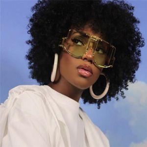 European and American punk style protective mirror lady rihanna big frame conjoined piece sunglasses female fashion rivet sunglasses . v266