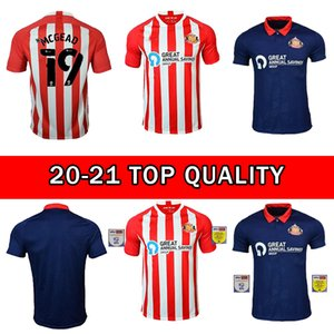 2020 2021 Sunderland Soccer Jerseys Accueil Water Rouge Away Blue Honeyman 20 21 Wembley Maja Gooch Shirts Maguire Wyke