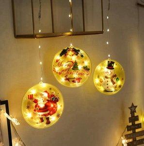 2020 ornements de lumière de Noël LED Snowman Santa Diy Famille Veillering Pendentif Personnalisé Noël Arbre de Noël Festive Party Décoration LJJP728
